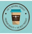 guarantee label coffee isolated icon design vector image
