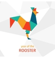 Chinese New Year of the Rooster 2017 vector image