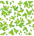 Decorative summer leaves vector image