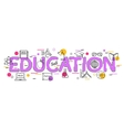 Education Concept with icons and elements vector image