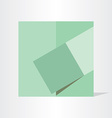 green geometry background design vector image