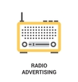 radio advertising icon vector image