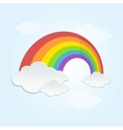 Rainbow and Cloud in The Sky vector image