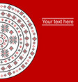 round traditional design card vector image