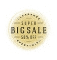 Sale Label or Tag Design on Gold Background vector image