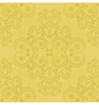 yellow background with floral decoration vector image