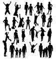 Happy Children Silhouettes vector image