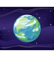 Planet Earth in Space Background vector image vector image