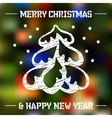 Christmas tree on colored background vector image vector image