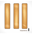 Wooden Eco Banner vector image
