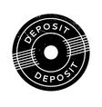 Deposit rubber stamp vector image