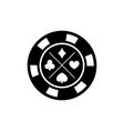 poker chip for casino games casino chips for vector image