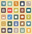 Ecommerce flat icons on yellow background vector image vector image