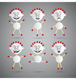 Men Icons Made from Paper and Safety Matches Set vector image vector image