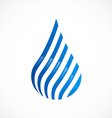 water drop stripe line abstract logo vector image