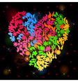 neon heart3 vector image