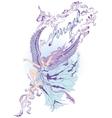 Flying angel girl vector image