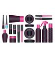 cosmetics set 6 vector image vector image