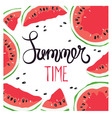 Funny summer hand drawing calligraphy vector