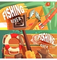 Two Fishing With Only Hands Visible vector image