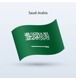 Saudi Arabia flag waving form vector image