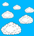 Set of colorful clouds vector image