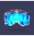Snowboard goggles vector image