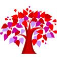 tree of hearts vector image