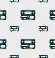 radio receiver amplifier icon sign Seamless vector image