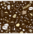 coffee theme wallpaper vector image vector image