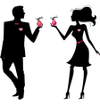 Silhouette of man and women vector image vector image
