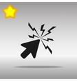 black Click Icon button logo symbol concept high vector image