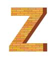 brick letter Z vector image