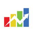 colorful financial progress vector image