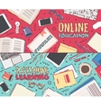 Flat concept online education vector image