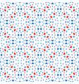 floral pattern blue red boho dots vector image