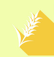 icon ears of wheat with a long shadow vector image