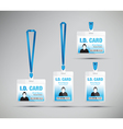 id card man blue vector image