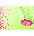 Love hearts and background valentines or wedding vector image