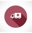 medical car icon vector image