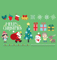 merry christmas set vector image