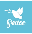 Peace hand written calligraphy lettering poster or vector image