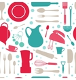 Seamless colorful kitchen pattern vector image