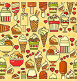 seamless pattern of colorful ice cream ico vector image