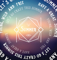 Summer futuristic background Abstract banner vector image
