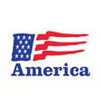 waving american flag logo design vector image
