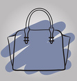 Woman handbag hand drawn fashion vector image