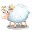 A hairy sheep vector image