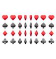3d symbols poker cards animation game vector image