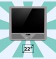 tv screen retro monitor template electronic device vector image